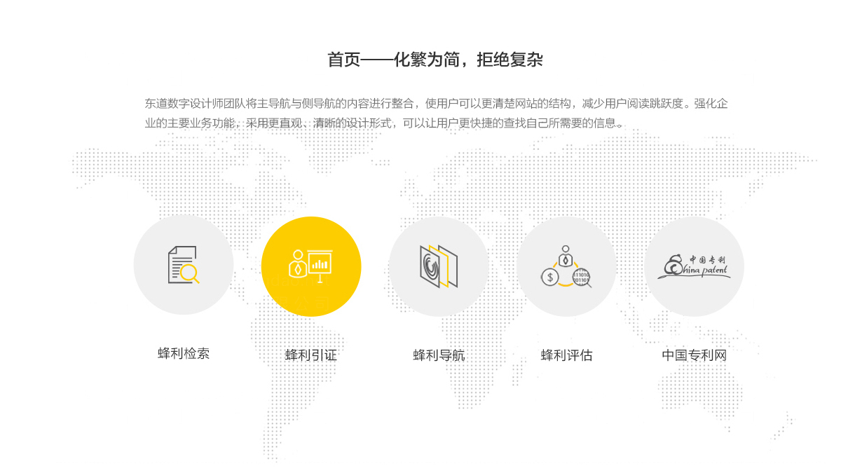 东道数字中国专利网站设计应用场景