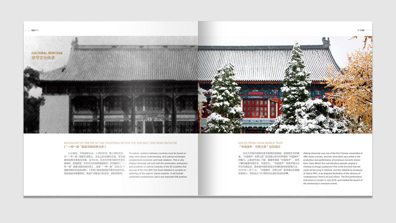 北京大学120周年校庆画册设计应用