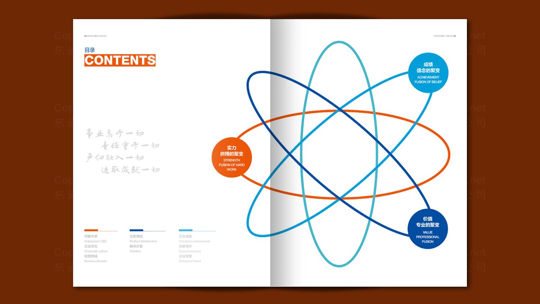 视觉传达中核中原公司宣传册、中、英文应用
