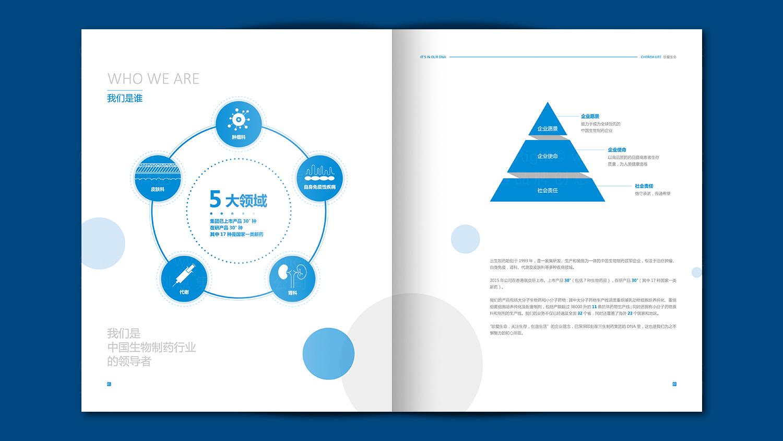 视觉传达三生制药画册设计应用
