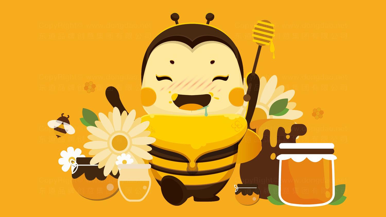 视觉传达汪氏蜜蜂园汪氏卡通形象原型设计应用场景