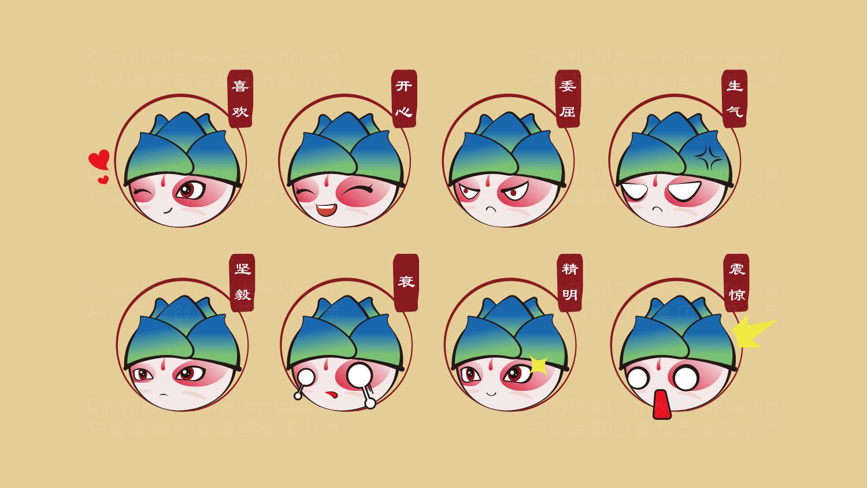 文体娱媒视觉传达国家会议中心吉祥物设计