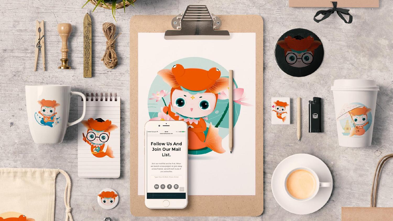 视觉传达全国双创活动周吉祥物设计应用场景_9