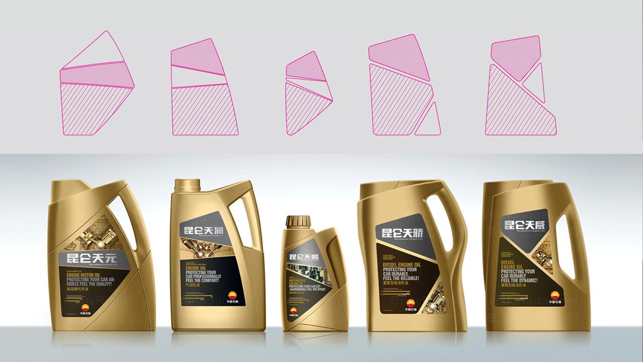 产品包装昆仑润滑油体系全案应用