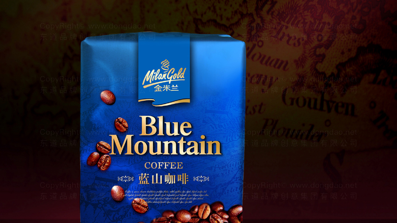 快速消费产品包装金米兰咖啡系列包装