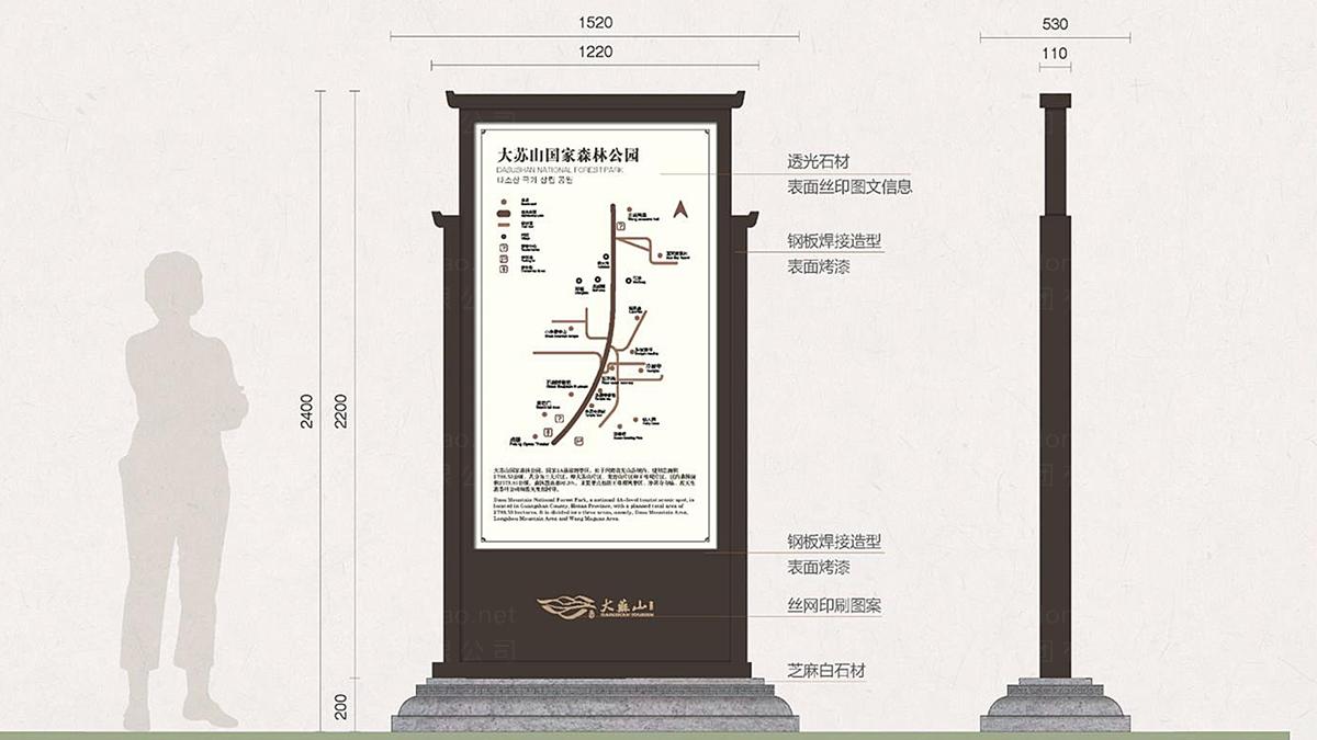 商业空间&导示案例大苏山旅游旅游和新区环境导示