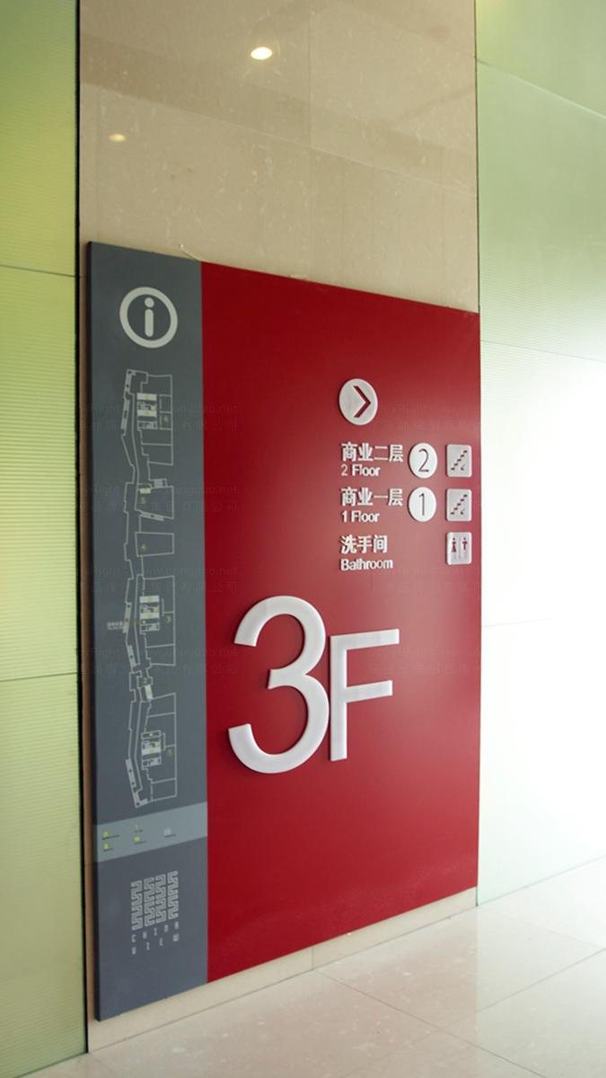 地产建筑中国红街商业导示