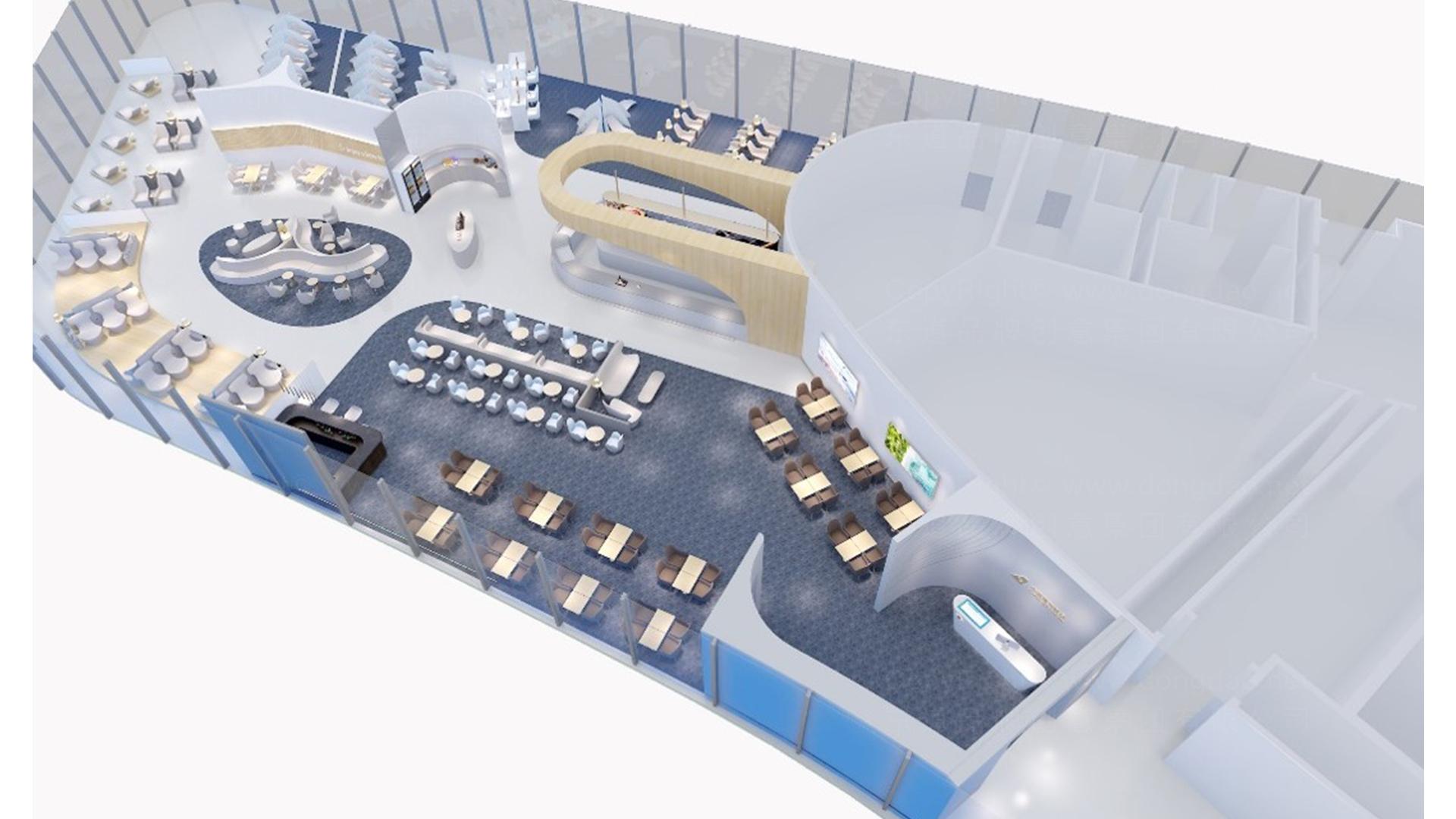 航空航天商业空间&导示南方航空南航上海浦东机场 S2 卫星听高端旅客休息室 SI
