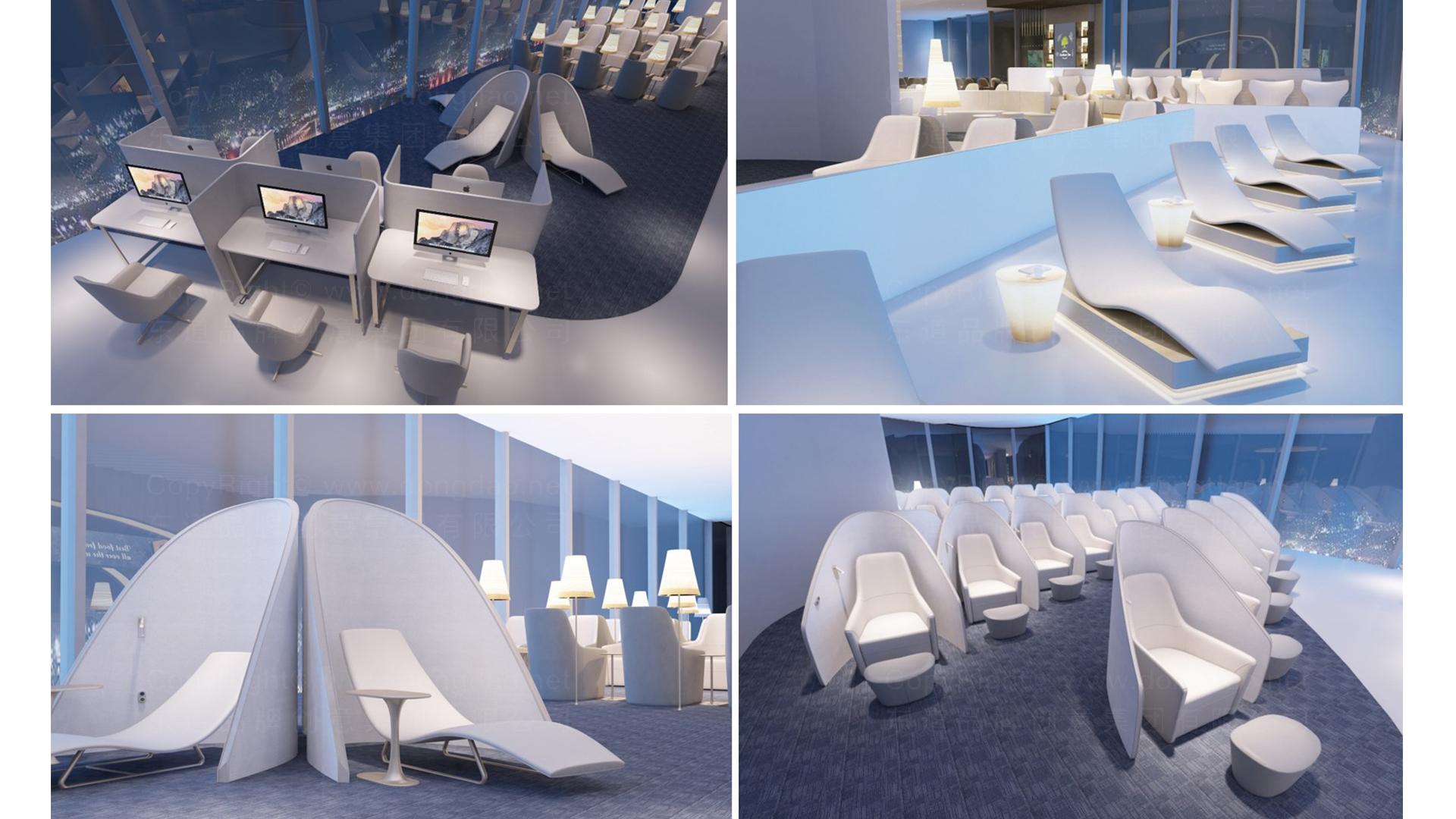 商业空间&导示南方航空南航上海浦东机场 S2 卫星听高端旅客休息室 SI应用场景_2