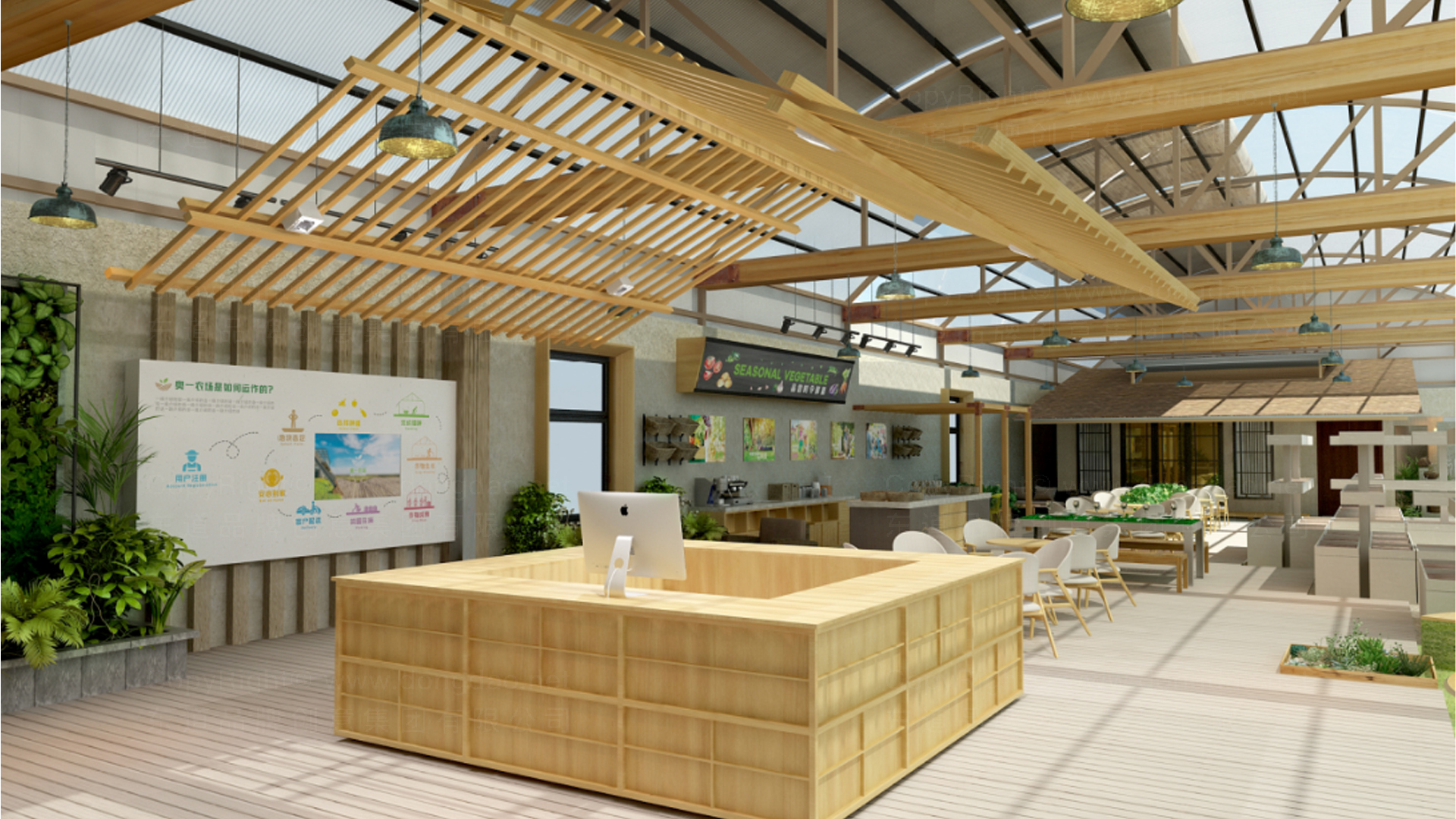 商业空间&导示奥一农场农场SI设计应用场景_3