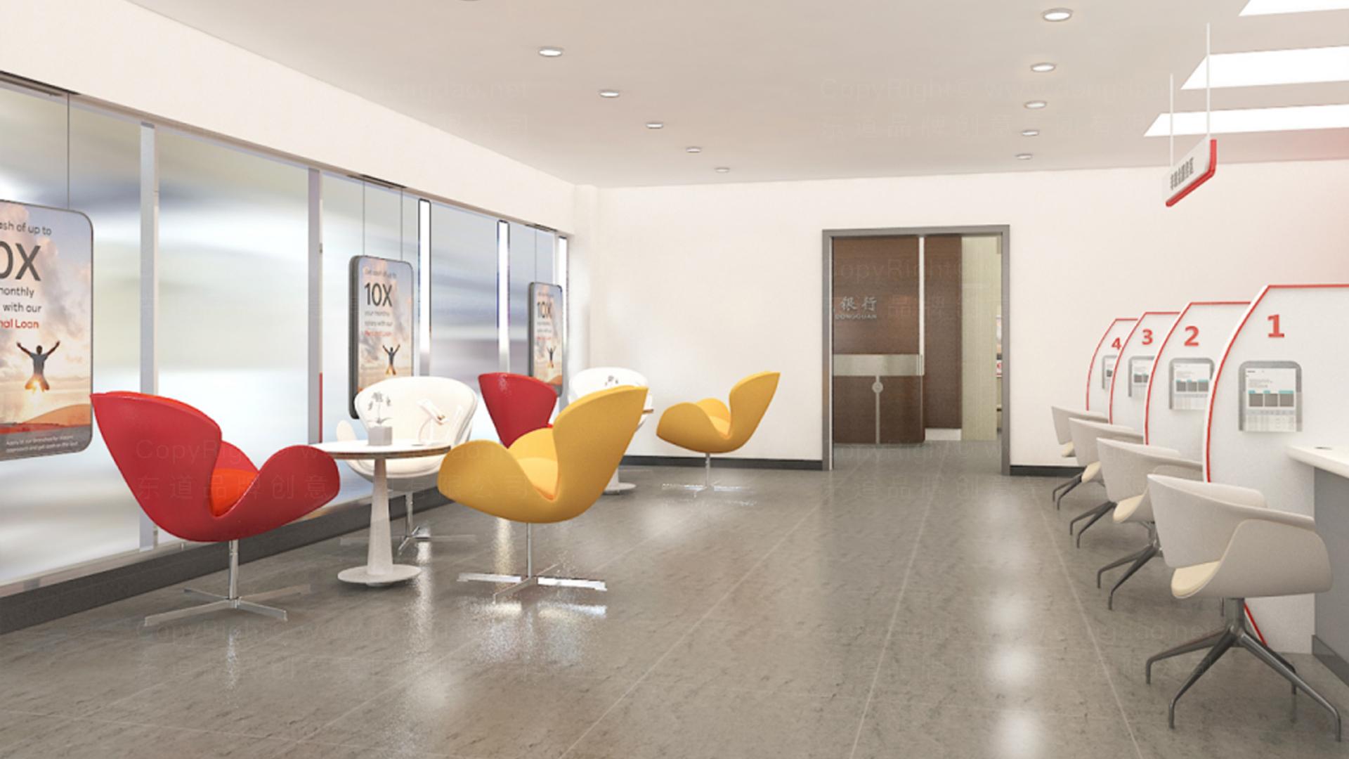银行金融商业空间&导示东莞银行自助网点SI设计