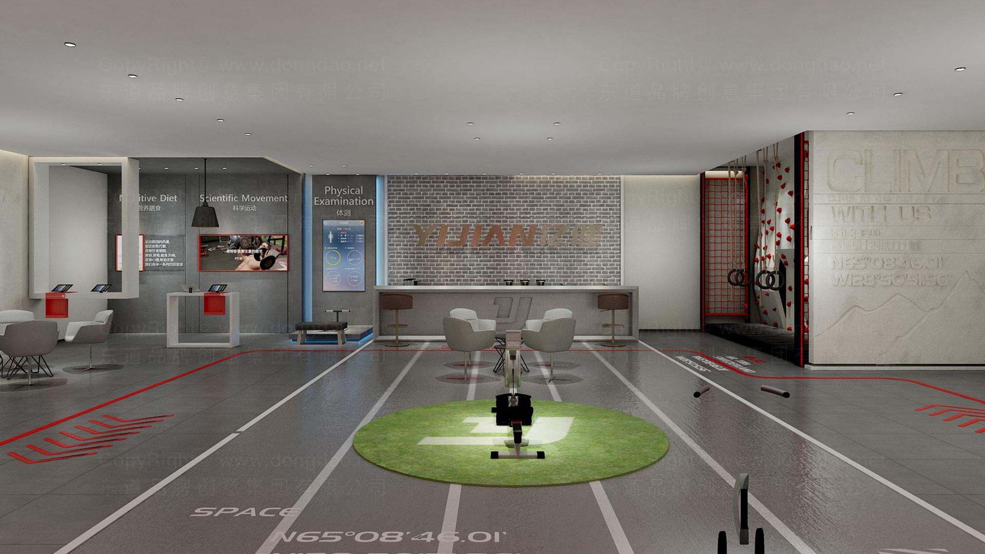 商业空间&导示亿健健身新零售终端SI设计应用