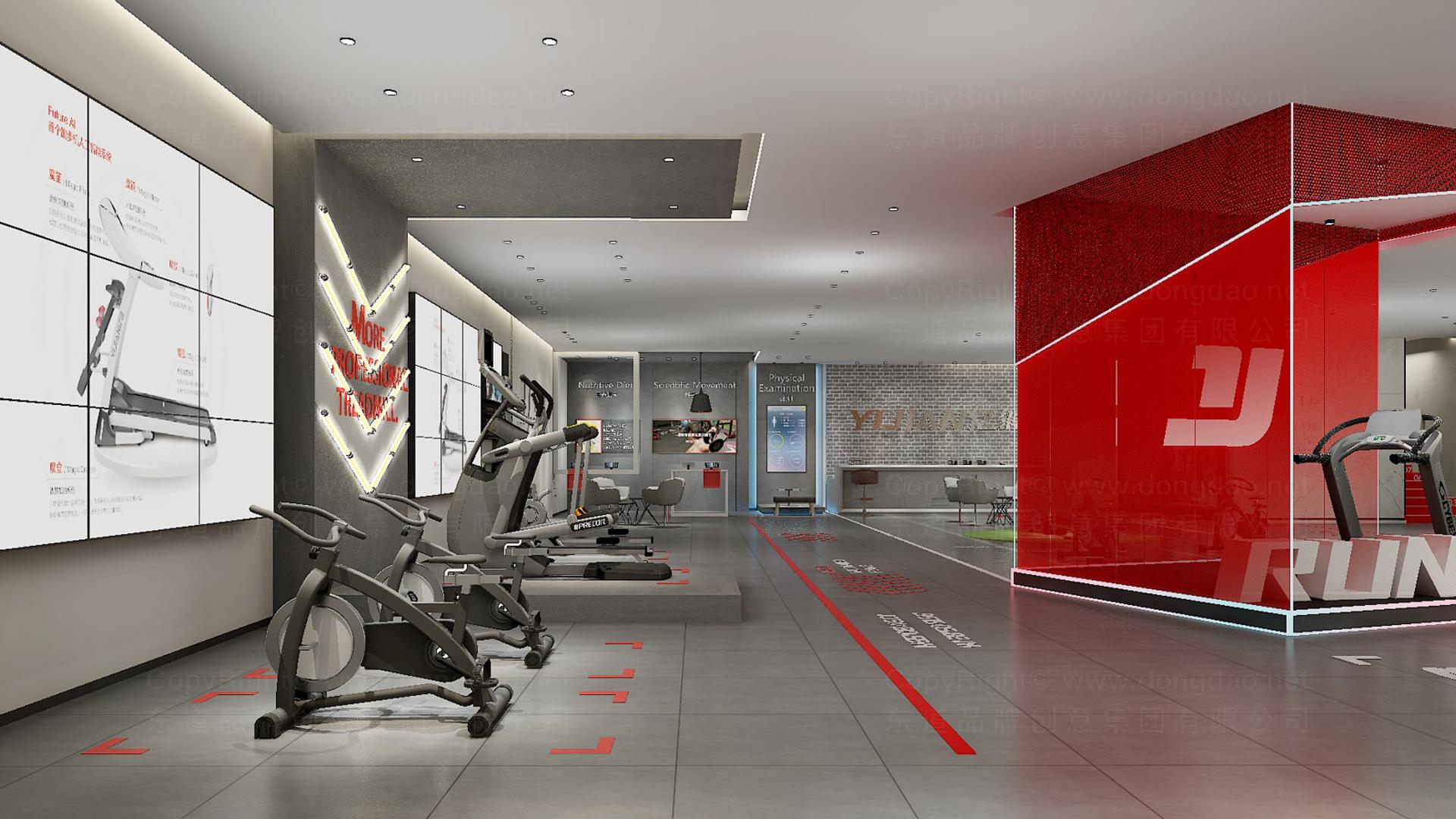 商业空间&导示亿健健身新零售终端SI设计应用场景