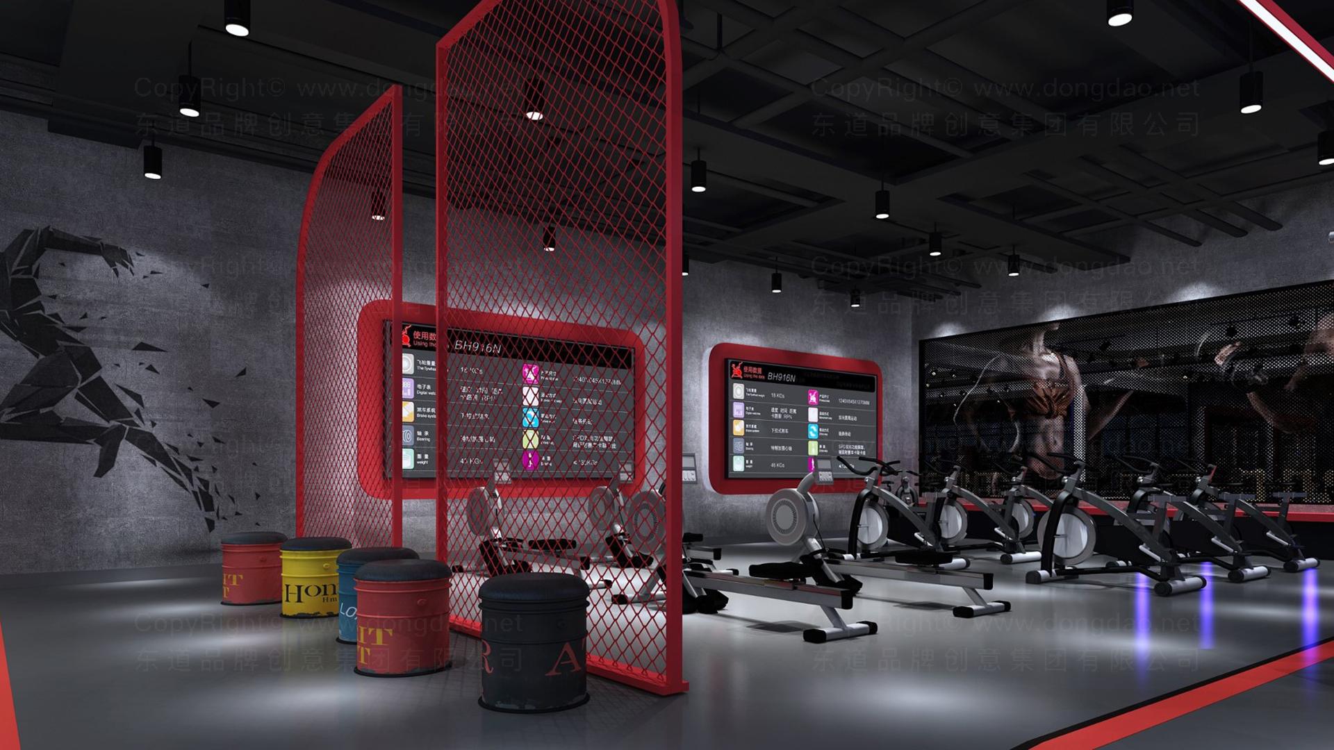 商业空间&导示亿健健身新零售终端SI设计应用场景_1