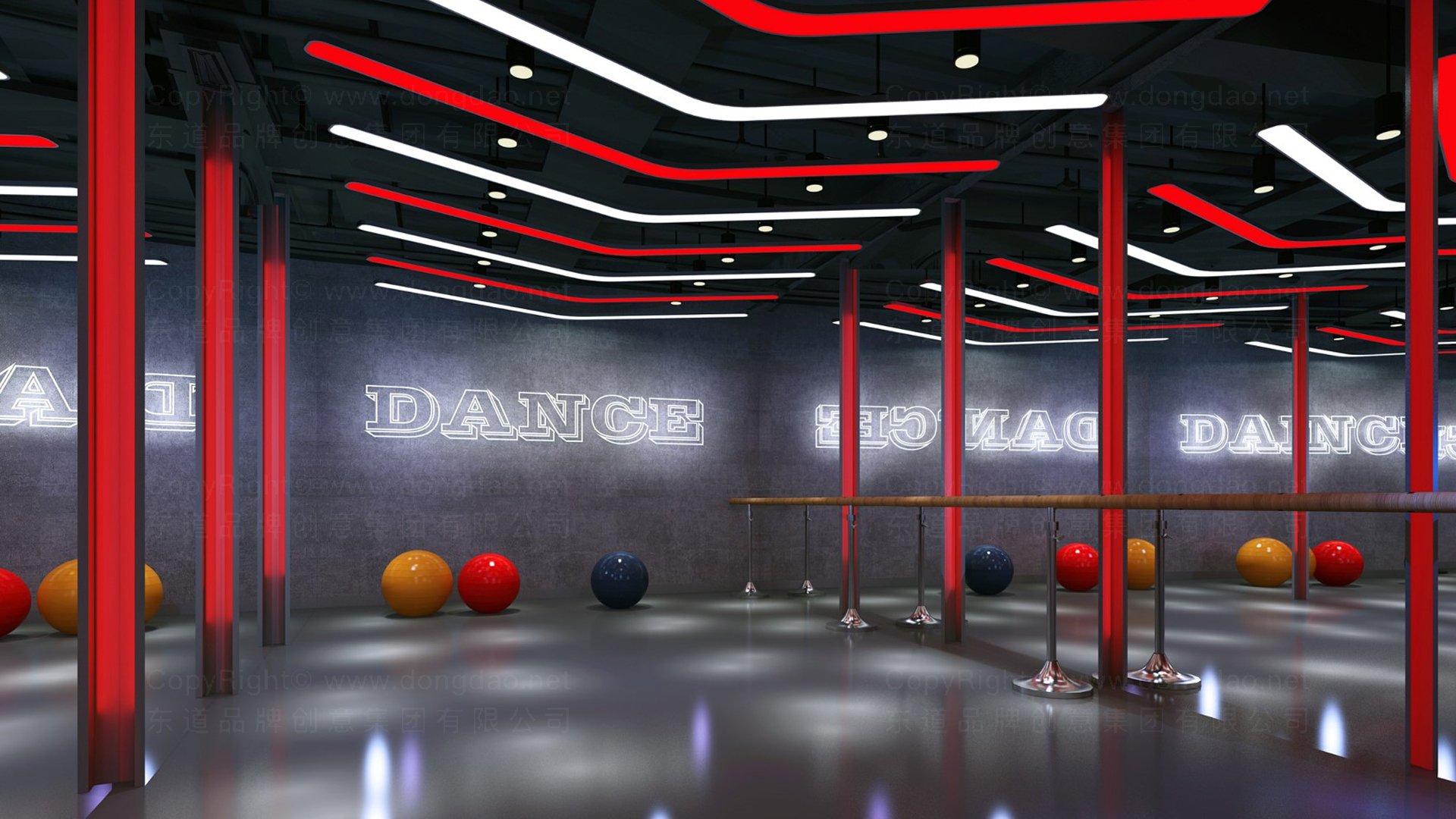 商业空间&导示亿健健身新零售终端SI设计应用场景_3