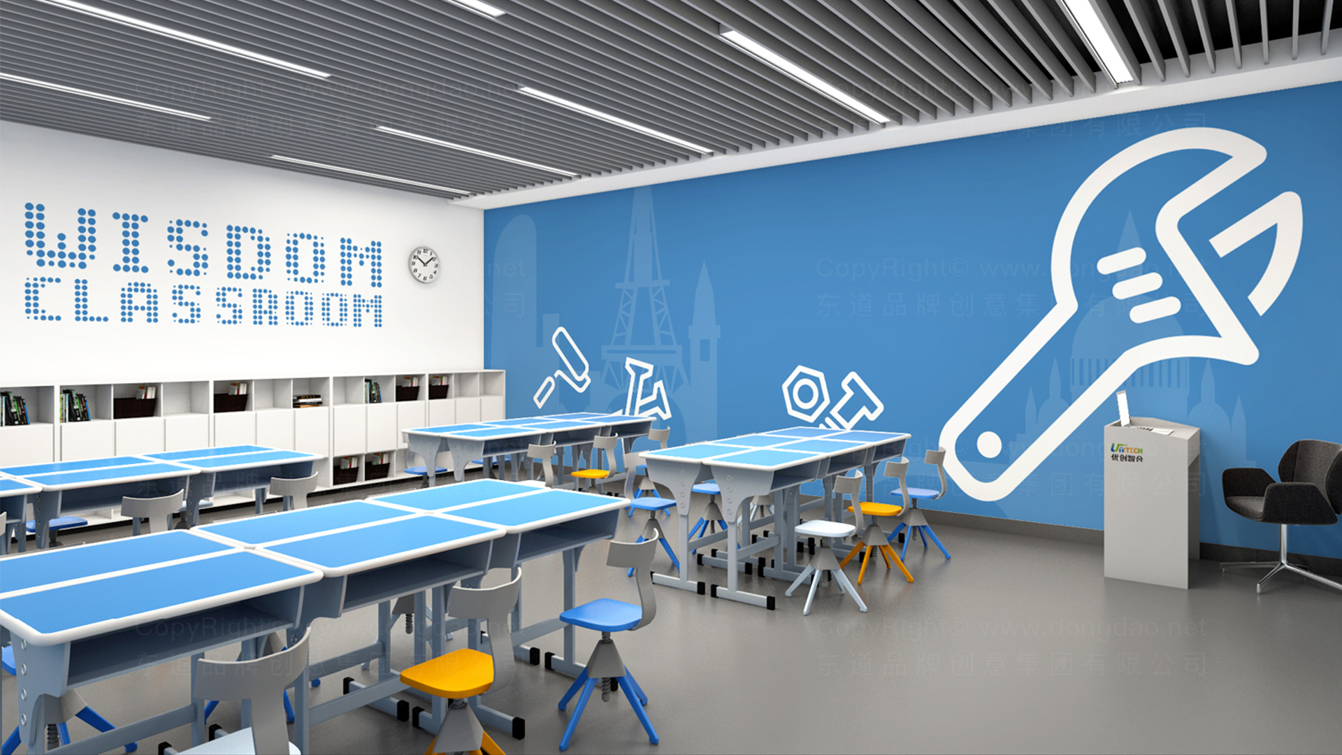IT通讯商业空间&导示优创智合虚拟店SI平面布局图设计