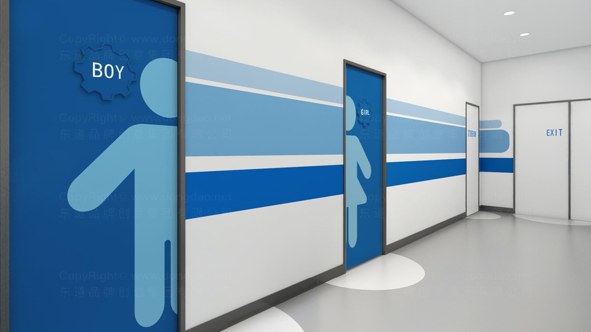 商业空间&导示优创智合虚拟店SI平面布局图设计应用