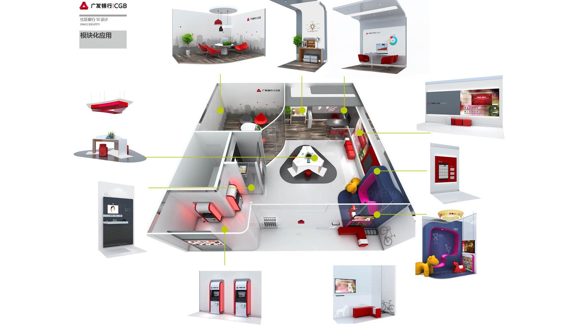 商业空间&导示广发银行社区支行标准化装修方案及标准手册设计应用场景_2