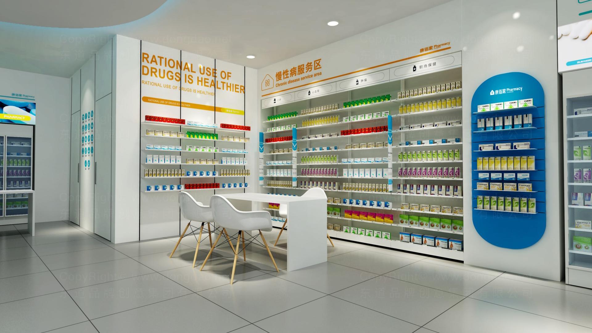零售购物商业空间&导示康佰家大药房SI设计