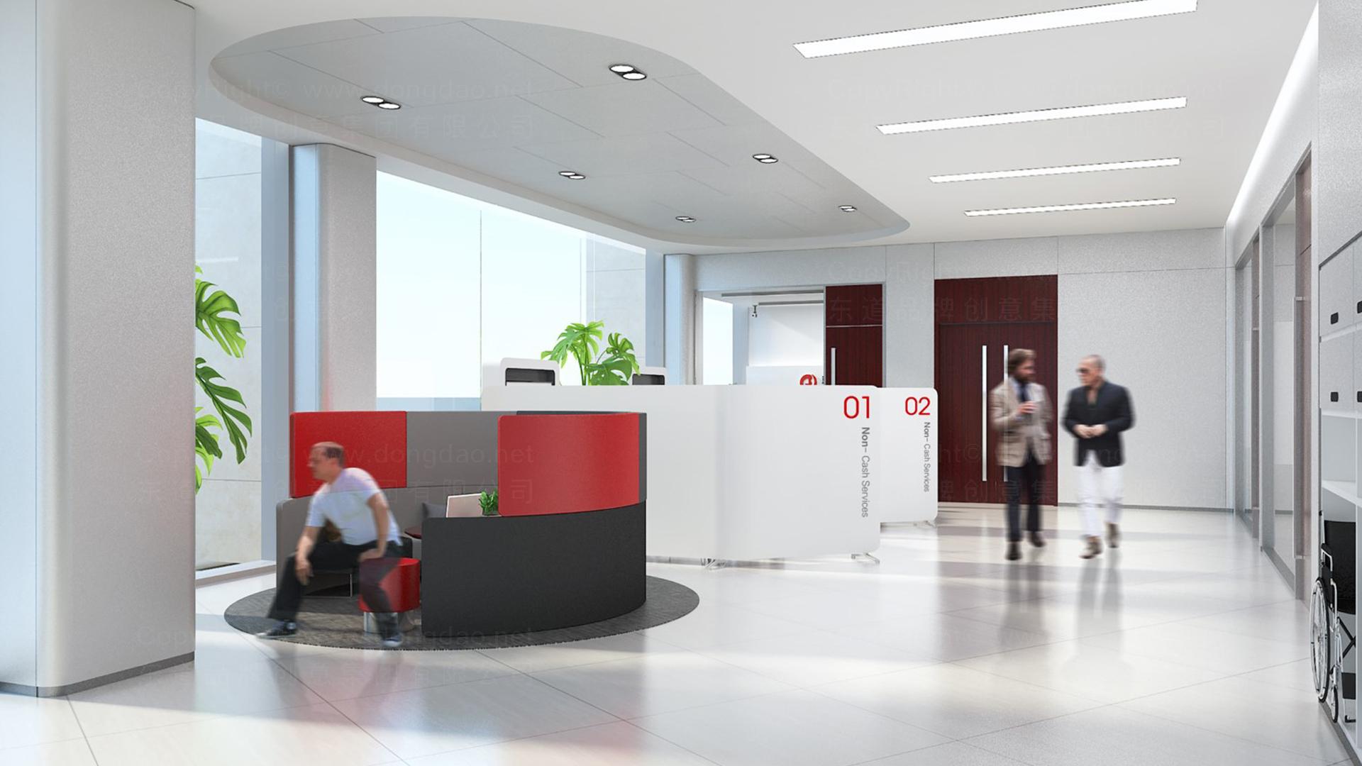 商业空间&导示辽阳银行银行网点风格设计应用场景_2