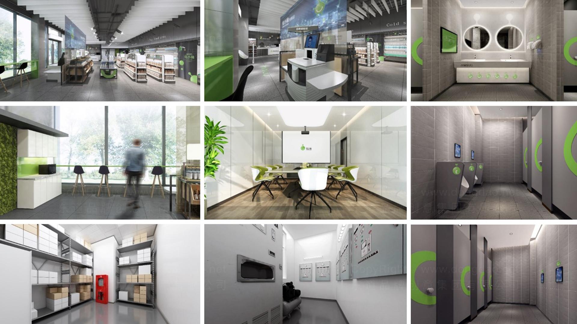 商业空间&导示优小柚加油站加油站SI设计应用场景_3