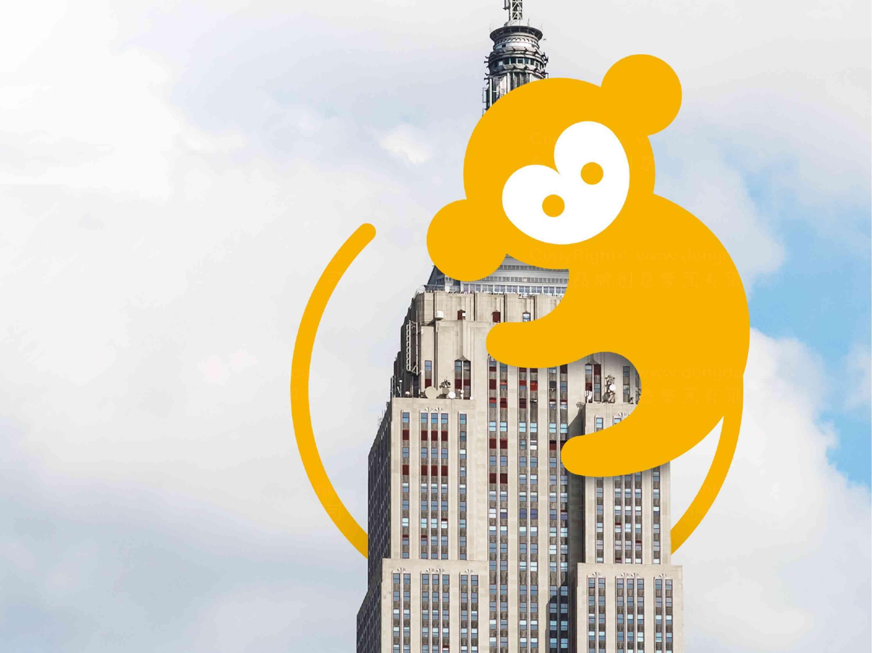 品牌设计LOGO&VI设计猴开心旅游品牌设计方案