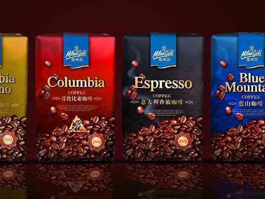 产品包装系列包装金米兰咖啡产品包装方案