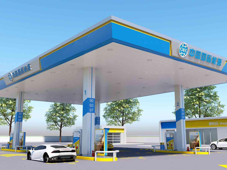 商业空间&导示加油站SI设计中能源商业空间&导示方案